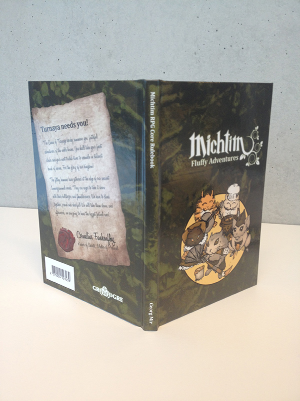 The cover of Michtim RPG shows several Michtims.